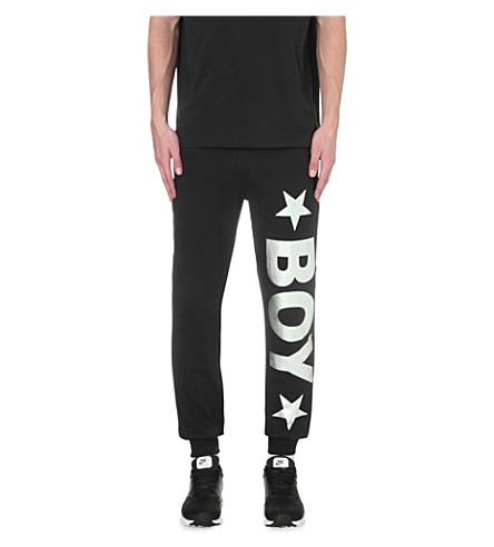 BOY LONDON Jogging bottoms with silver logo