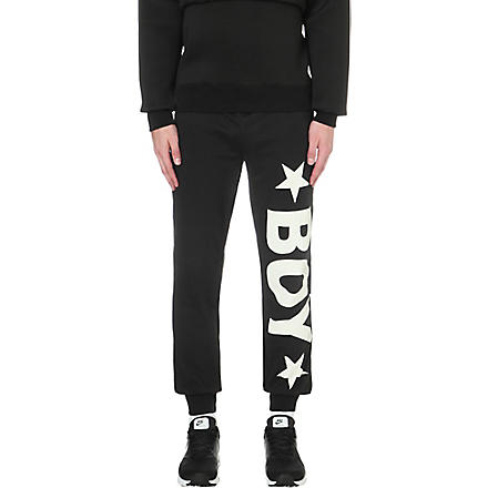 BOY LONDON Jogging bottoms with white logo (Black
