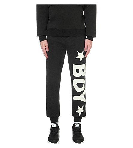 BOY LONDON Track pants with white logo (Black