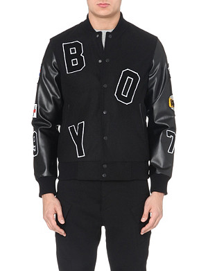 BOY LONDON Appliqué-detail varsity jacket