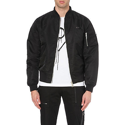 BOY LONDON Eagle emblem bomber jacket (Black
