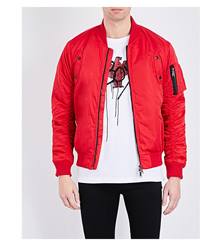 BOY LONDON Eagle paraglide shell bomber jacket (Red