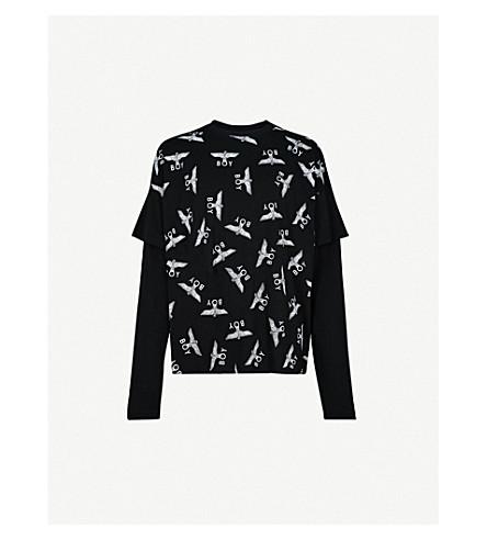 BOY LONDON Repeat-logo cotton-jersey T-shirt (Black