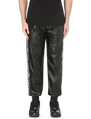 BOY LONDON Faux-leather jogging bottoms