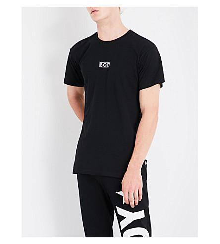 BOY LONDON Eagle-print cotton-jersey T-shirt (Black