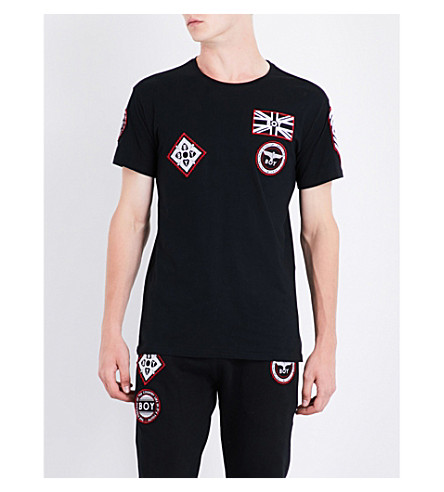 BOY LONDON Patch-detailed cotton-jersey T-shirt (Black