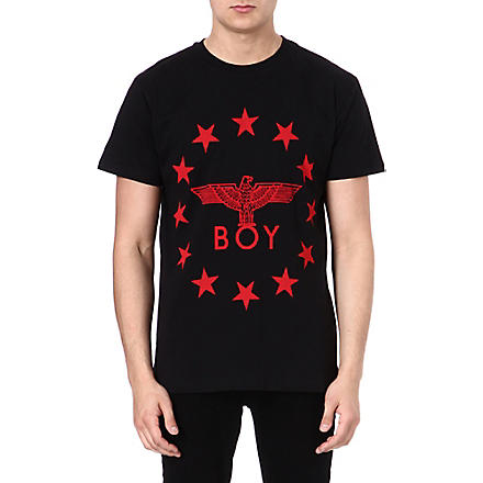 BOY LONDON Red Eagle Star t-shirt (Black/red