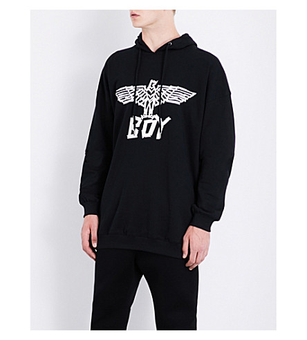 BOY LONDON Logo-print cotton-jersey hoody (Black