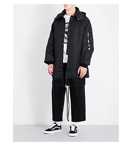 BOY LONDON Eagle tape-print hooded shell jacket (Black