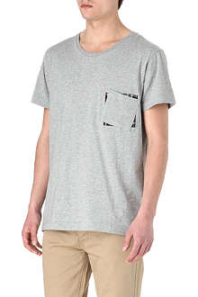 TWO SQUARE Checked-panel t-shirt