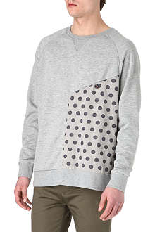 TWO SQUARE Polka dot-panel sweatshirt