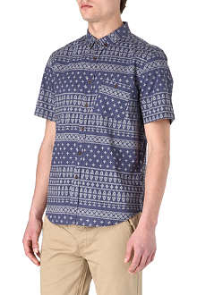 TWO SQUARE Mixed-print short-sleeved shirt