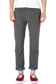 TWO SQUARE Contrast-cuff chinos