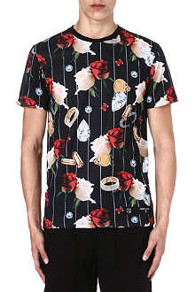 CRIMINAL DAMAGE Bullets Diamonds Flowers t-shirt