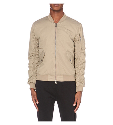 CRIMINAL DAMAGE Air Force One cotton bomber jacket (Stone