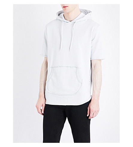 CRIMINAL DAMAGE Baller cotton-jersey hoody (Frost+grey