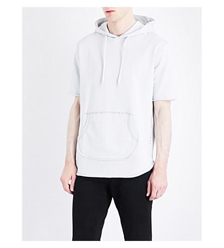 CRIMINAL DAMAGE 球棉质平纹针织帽衫 (霜 + 灰