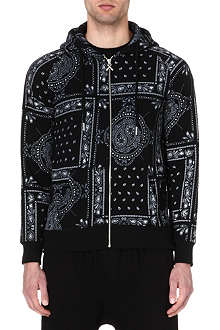 CRIMINAL DAMAGE Bandana print zip hoody