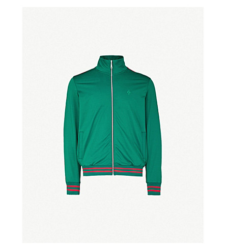CRIMINAL DAMAGE Carnaby sports-jersey track jacket (Olive red