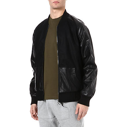 CRIMINAL DAMAGE Chico Letterman bomber jacket (Black