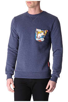 CRIMINAL DAMAGE Comic pocket sweatshirt