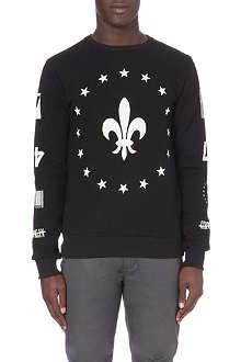CRIMINAL DAMAGE Fleur-de-lis sweatshirt