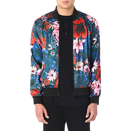 CRIMINAL DAMAGE Friscore Reversible bomber jacket (Black/multi