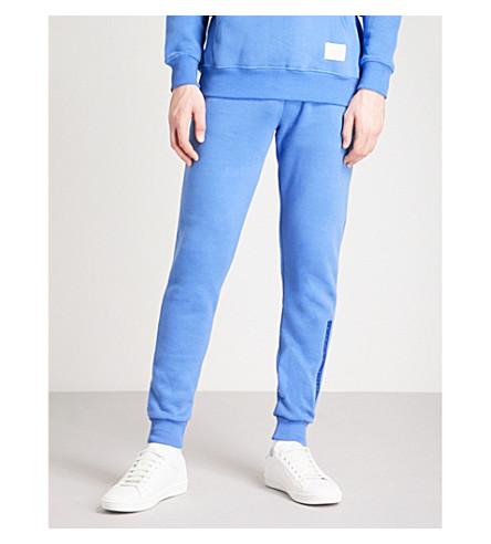 CRIMINAL DAMAGE Hiber cotton-fleece jogging bottoms (Blue