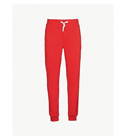 CRIMINAL DAMAGE Hiber cotton-fleece jogging bottoms (Red