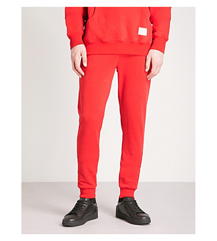 CRIMINAL DAMAGE Hiber cotton-fleece jogging bottoms (Red