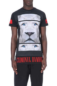 CRIMINAL DAMAGE Leo long printed t-shirt