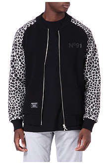 CRIMINAL DAMAGE Leopard bomber jacket
