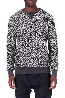 CRIMINAL DAMAGE Leopard sweatshirt
