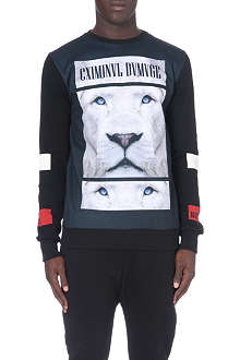 CRIMINAL DAMAGE Printed Leo sweatshirt