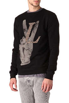 CRIMINAL DAMAGE Love Peace sweatshirt