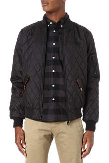 CRIMINAL DAMAGE Quilted bomber jacket