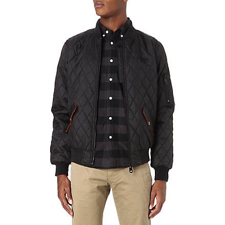 CRIMINAL DAMAGE Quilted bomber jacket (Black