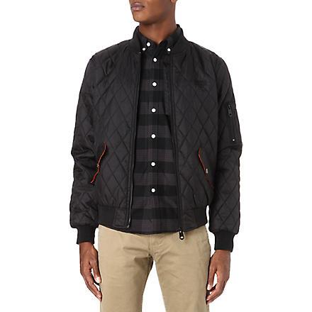 CRIMINAL DAMAGE Quilted bomber jacket (Black