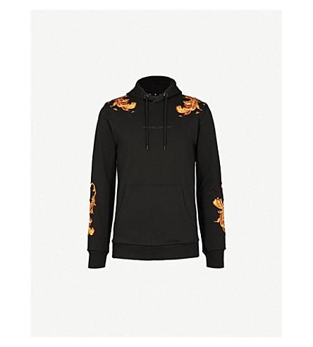 CRIMINAL DAMAGE Marco cotton-jersey hoody (Black+gold