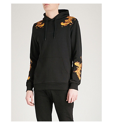 CRIMINAL DAMAGE Marco cotton-jersey hoody (Black+gold