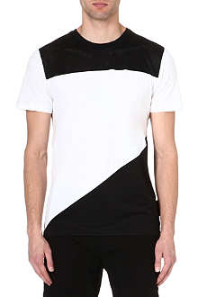 CRIMINAL DAMAGE Asymmetrical panel t-shirt