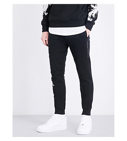 CRIMINAL DAMAGE Paulo cotton-jersey jogging bottoms (Black+white