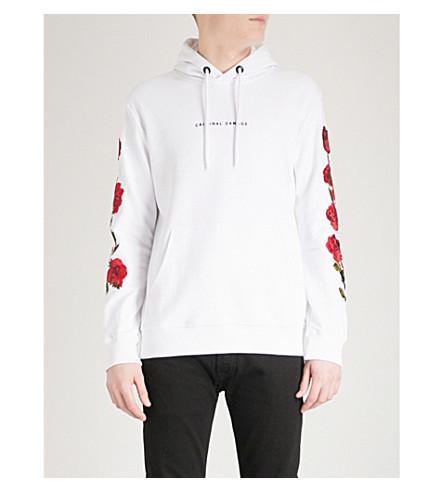 jersey DAÑO algodón Blanco CRIMINAL con Sudadera pétalo capucha de de de Sqn61wqfXx