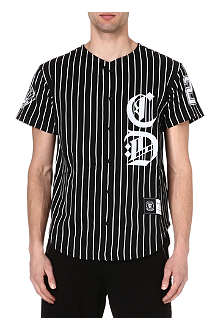 CRIMINAL DAMAGE Stripe baseball shirt