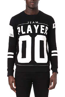 CRIMINAL DAMAGE Team player 00 cotton-blend sweatshirt