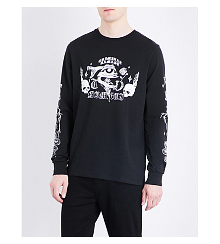 CRIMINAL DAMAGE Pyramid cotton-jersey sweatshirt (Black
