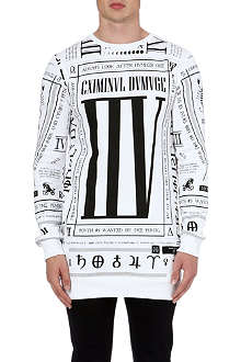 CRIMINAL DAMAGE Scorpion zip side sweatshirt