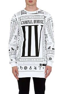 CRIMINAL DAMAGE Scorpion zip side sweatshirt