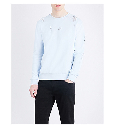 CRIMINAL DAMAGE Shoreditch cotton sweatshirt (Light+blue
