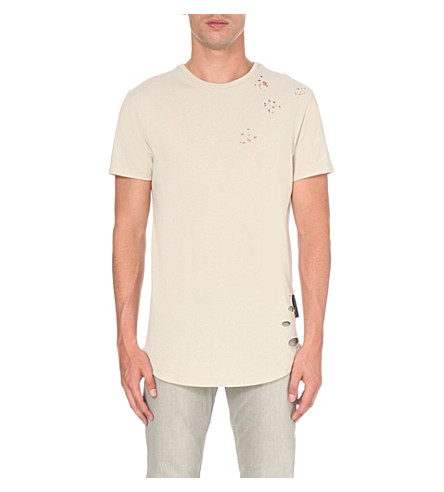 CRIMINAL DAMAGE Shoreditch cotton t-shirt (Nude